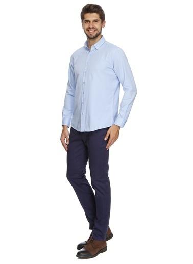 George Hogg George Hogg Comfort Fit Erkek Gömlek Mavi